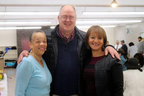 Photo of DA Sullivan with CAB members Karen Brown and Mary Custard