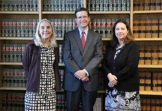 The Appellate Unit, from left to right, ADA Cynthia Von Flatern, ADA Thomas Townsend, Unit Chief, and ADA Bethany Lynch