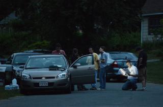 Prosecutors at a crime scene