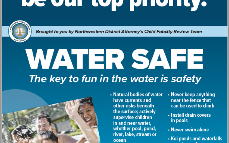 Northwestern District Attorney launches child safety campaign on water, car, windows and sleep risks